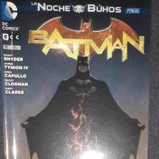 Comics : BATMAN Nº 11 LA NOCHE DE LOS BÚHOS FINAL EDITORIAL ECC SCOTT SNYDER GREG CAPULLO. Lote 73559423