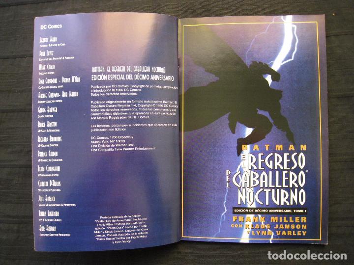 Cómics: BATMAN - EL REGRESO DEL CABALLERO NOCTURNO - TOMO 1 - EDITORIAL VID. - Foto 4 - 74992163