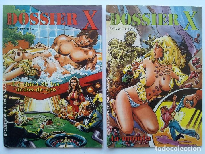 Cómics: LOTE 9 COMICS EROTICOS, DOSSIER X, Nº 1, 2, 3, 4, 6, 7, 8, 13,Y 14 - Foto 4 - 75503759