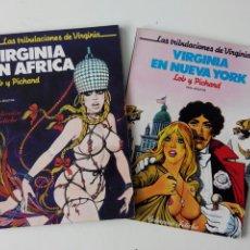 Cómics: LOTE COLECCIÓN FETICHE PICHARD Y LOB. VIRGINIA EN ÁFRICA Y VIRGINIA EN NUEVA YORK. Lote 195433368