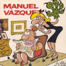 Cómics: CATÁLOGO EXPOSICIÓN MANUEL VÁZQUEZ. SALÓN DEL CÓMIC DE BARCELONA, 1991 . Lote 77111549