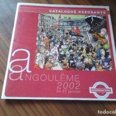 Cómics: ANGULEME 2002. CATALOGO DE EXPOSITORES. EN FRANCÉS. GRAPA. BUEN ESTADO. RARO.. Lote 78399509