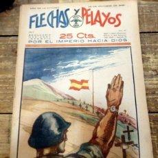 Cómics: FLECHAS Y PELAYOS Nº 47 AÑO II** 29/10/1939 ** SEMANARIO INFANTIL DE LA FALANGE TRADICIONALISTA. Lote 79000445