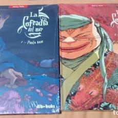 Cómics: LOTE 2 TOMOS LA COFRADIA DEL MAR COMPLETA TAMAÑO MUY GRANDE TAPA DURA. Lote 79105653