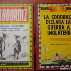 Cómics: LA CODORNIZ ANTOLOGIA +DECLARA LA GUERRA A INGLATERRA. Lote 79163349