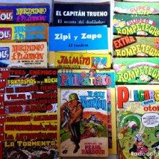 Cómics: CACHORRO IRANZO, ROMPETECHOS, OLÉ, JAIMITO, PULGARCITO, RAY NORTON, ZIPI Y ZAPE, EL CAPITAN TRUENO. Lote 79651125