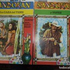 Cómics: SANDOKÁN HÉROE DE LA TV.ALBUM PARA COLOREAR BRB 1976.LOTE DE 2.CEDAG S.A.. Lote 80030869
