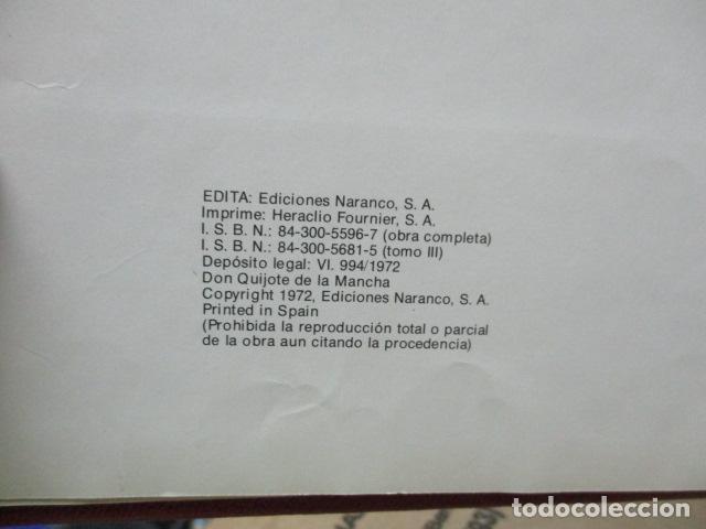 Cómics: DON QUIJOTE DE LA MANCHA-MIGUEL DE CERVANTES-EDICIONES NARANCO-1972-TOMO 3 - Foto 5 - 80336305