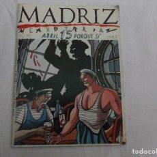 Cómics: MADRIZ Nº 15 EXTRA POR QUE SI,1985, ABRIL, 90 PAGINAS ,MUCHOS DIBUJANTES. Lote 80590414