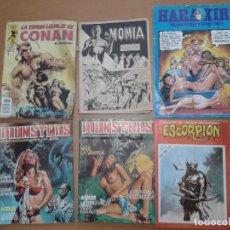 Cómics - Lote 6 Cómics Adulto Monsters 17 19 Escorpión 96 Cómic Terror Harakiri Conan La Espada Salvaje Momia - 80738242