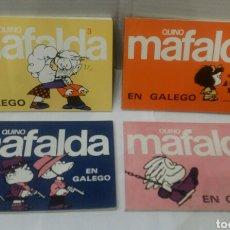 Cómics: MAFALDA EN GALEGO GALLEGO. LOTE 4 NÚMEROS. QUINO. NUEVOS. ED SOUTO. MUY DIFÍCILES. 2 3 4 5 1985 1988. Lote 83444200