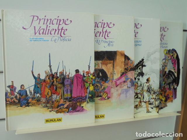 PRINCIPE VALIENTE COMPLETA 4 TOMOS - BURULAN OFERTA (Tebeos y Comics - Buru-Lan - Principe Valiente)