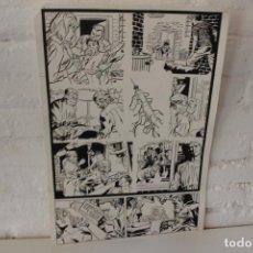 Cómics: ILUSTRACION ORIGINAL, MAQUETA PARA COMIC SUPERHEROE DE FRANCISCO CUETO, 1971. Lote 86594924