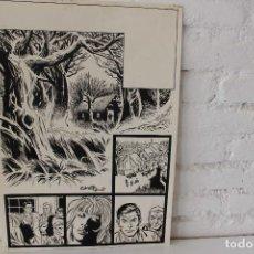Cómics: ILUSTRACION ORIGINAL, MAQUETA PARA COMIC SUPERHEROE DE FRANCISCO CUETO, 1971. Lote 86594980