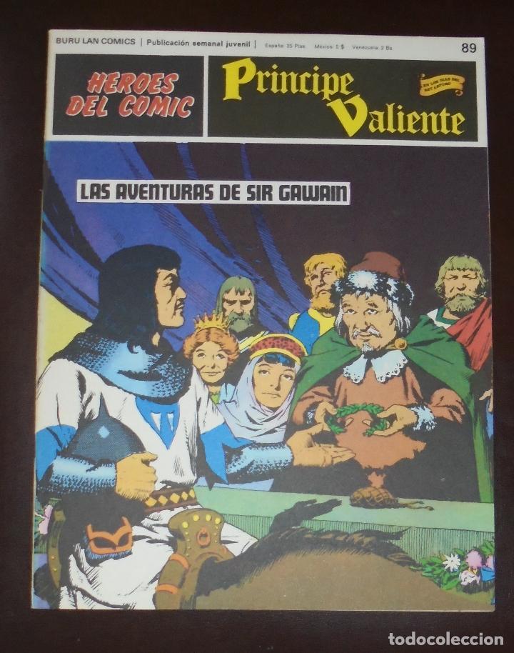 HEROES DEL COMIC. PRINCIPE VALIENTE. Nº 89. LAS AVENTURAS DE SIR GAWAIN. BURU LAN. 1973 (Tebeos y Comics - Buru-Lan - Principe Valiente)