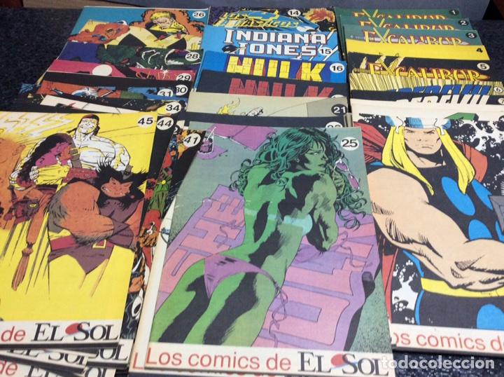 LOS COMICS DE EL SOL - COLECCION COMPLETA EN 45 EJEMPLARES (PERSONAJES MARVEL ) (Tebeos y Comics - Comics Colecciones y Lotes Avanzados)