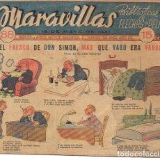 Cómics: MARAVILLAS. FLECHAS Y PELAYOS. Nº 88. 1941. Lote 87343956