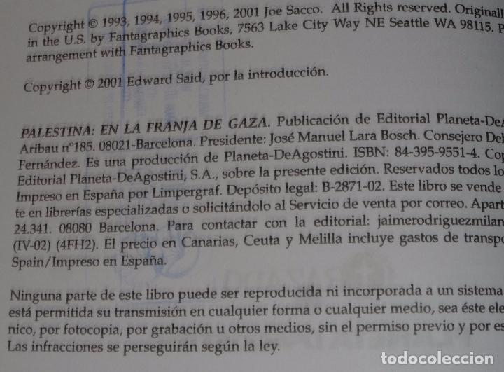 Cómics: Palestina - En la franja de Gaza - Joe Sacco - Planeta DeAgostini - Foto 2 - 87469632