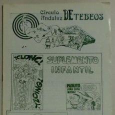 Cómics: CÍRCULO ANDALUZ DE TEBEOS - SUPLEMENTO INFANTIL - 1982. Lote 88095804