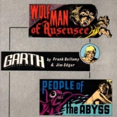Cómics: WOLFMAN OF AUSENSEE. GARTH. PEOPLE OF THE ABYSS. THE WOMEN OF GALBA. BY FRANK BELLAMY & JIM EDGAR. Lote 89180556