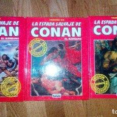 Cómics: LA ESPADA SALVAJE DE CONAN EDICION COLECCIONISTA TOMOS 19,23,29. Lote 89220716