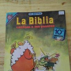 Cómics: LA BIBLIA CONTADA A LOS PASOTAS - J.L.MARTIN (DEDICATORIA Y DIBUJO DEL AUTOR)- EDICION HISTÓRICA . Lote 89343152