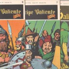Cómics: EL PRINCIPE VALIENTE BURULAN 1972 - LOTE 8 NºS - 2,4,5,6,7,19,62,64. Lote 89393996