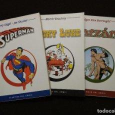 Cómics: CLÁSICOS DEL COMIC. 3 TOMOS: LUCKY LUKE, SUPERMÁN Y TARZÁN.. Lote 89619880