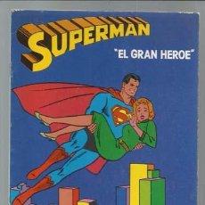 Cómics: SUPERMAN: EL GRAN HEROE, 1979, CUADERNO PARA PINTAR, SIN USAR, MUY BUEN ESTADO. Lote 90049212