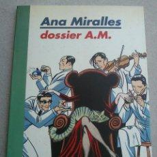 Cómics: DOSSIER A.M. - ANA MIRALLES - COLECCIÓN SOMBRAS Nº 3 - MIDONS - 1996 1ª ED - BUEN ESTADO. Lote 92858905