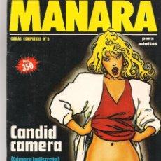 Cómics: MANARA. OBRAS COMPLETAS. Nº 5. CANDID CAMERA (CÁMARA INDISCRETA). NEW COMIC 1992. (C/A22. Lote 93178445