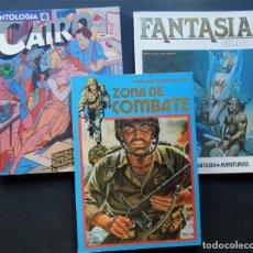 Cómics: LOTE 3 EJEMPLARES / ANTOLOGIA CAIRO 6 / FANTASIA CIMOC 4 / ZONA DE COMBATE EXTRA 17 . Lote 94453150