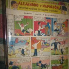 Cómics: ALEJANDRO Y NAPOLEON TEBEOS ANTIGUOS COLECCION COMPLETA TIRA 38 CAPITULOS. Lote 95466551