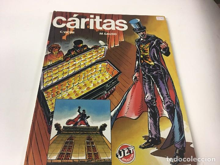 CÁRITAS - JET Nº 2 - DIBUJOS: C. VICINI - GUIÓN: M. GAUDO. ED. BRUGUERA, 1983 (Tebeos y Comics Pendientes de Clasificar)