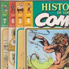Cómics: HISTORIA DE LOS COMICS Nº 4,5,6 Y 7.. Lote 96029271
