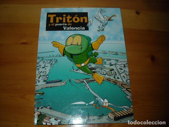TRITON Y EL PUERTO DE VALENCIA + TRIPTICO PUERTOS VALENCIA GANDIA Y PUERTO SAGUNTO (Tebeos y Comics Pendientes de Clasificar)