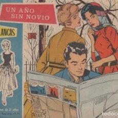 Cómics: COLECCION ROSAS BLANCAS UN AÑO SIN NOVIO - AÑO 1960 Nº 99. Lote 97922823