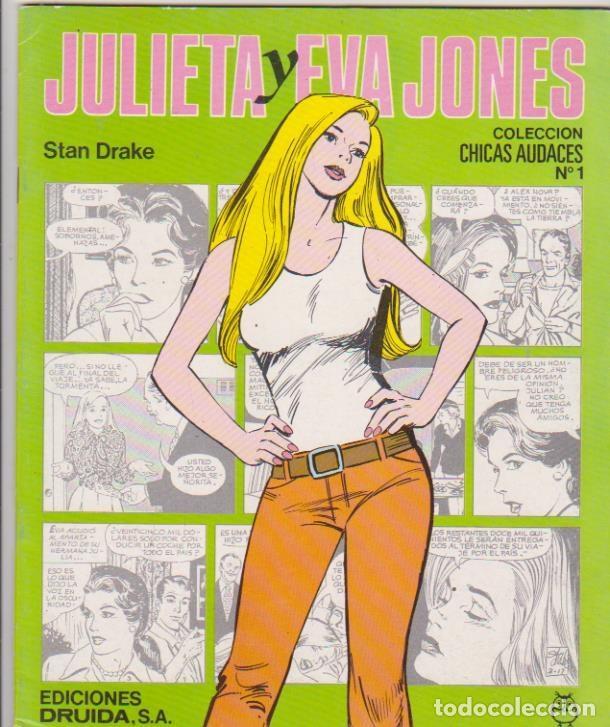 CHICAS AUDACES. JULIETA Y EVA JONES Y LA CHICA DEL 13. COMPLETA 10 EJEMPLARES. DRUIDA 1982. (Tebeos y Comics - Comics otras Editoriales Actuales)