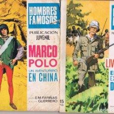 Cómics: LOTE HOMBRES FAMOSOS MARCO POLO Y LIBISTONG. Lote 98664663