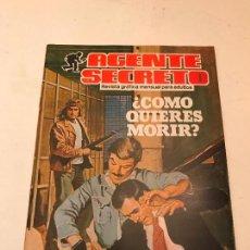 Comics : AGENTE SECRETO. Nº 12. ¿COMO QUIERES MORIR? PRODUCCIONES EDITORIALES. 1982.. Lote 98674331