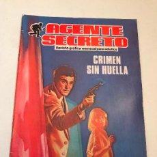 Comics : AGENTE SECRETO. Nº 3. CRIMEN SIN HUELLA. PRODUCCIONES EDITORIALES. 1982.. Lote 98674719
