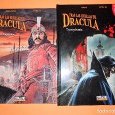 Cómics: TRAS LAS HUELLAS DE DRACULA. DOS VOLUMENES. VLAD EL EMPALADOR & TRANSYLVANIA. IMPECABLES.. Lote 99146551