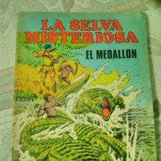 Cómics: LA SELVA MISTERIOSA EL MEDALLÓN- DEFECTO - CON RECORTES EN ALGUNAS HOJAS. Lote 99835571