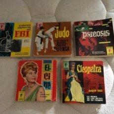 Cómics: LOTE PEQUEÑOS LIBROS MARABÚ ZAS 1962 Y 1963. Lote 100972939
