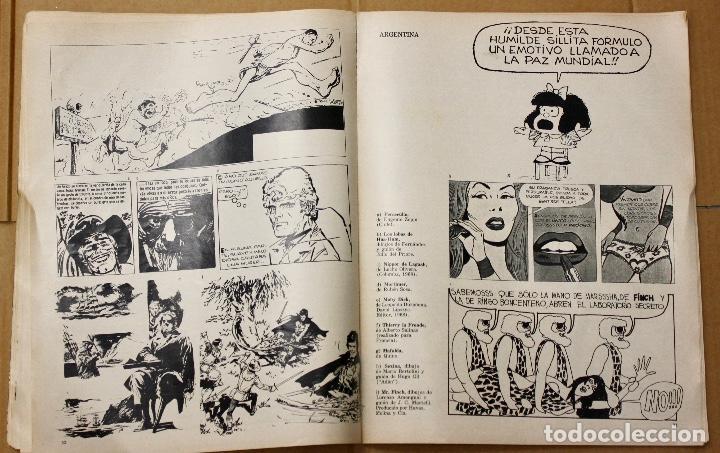 Cómics: LA HISTORIETA MUNDIAL. 1ª BIENAL MUNDIAL DE LA HISTORIETA. BUENOS AIRES. AÑO 1968 - Foto 5 - 101051223