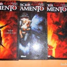 Cómics: EL TERCER TESTAMENTO. CUATRO VOLÚMENES DE TAPA DURA COMO NUEVOS. GLENAT 1997. Lote 102969287