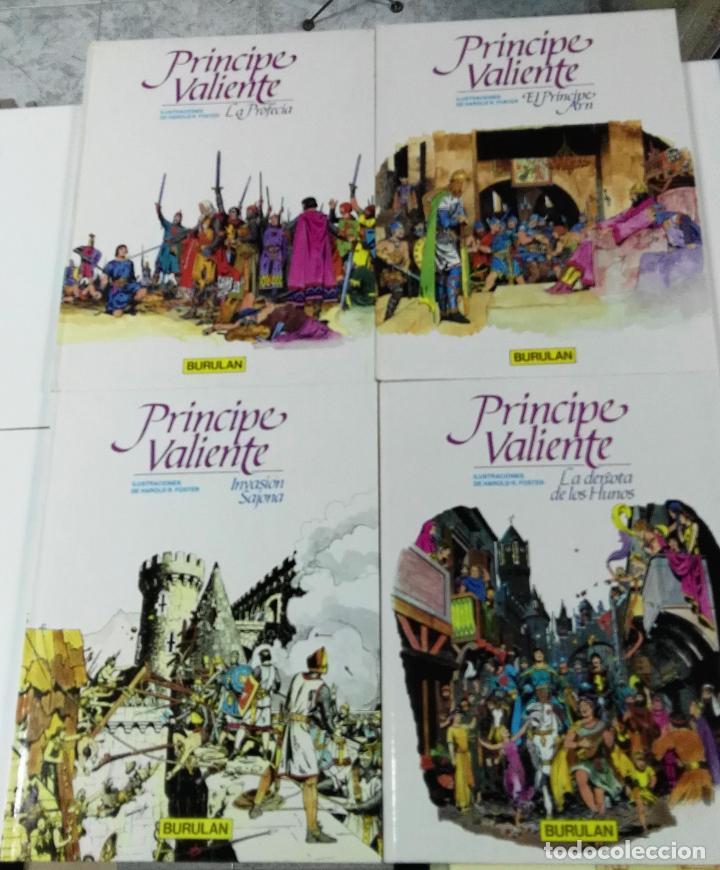 PRINCIPE VALIENTE. HAROLD R. FOSTER. BURU LAN, 4 PRIMEROS TOMOS. 1983 (Tebeos y Comics - Buru-Lan - Principe Valiente)