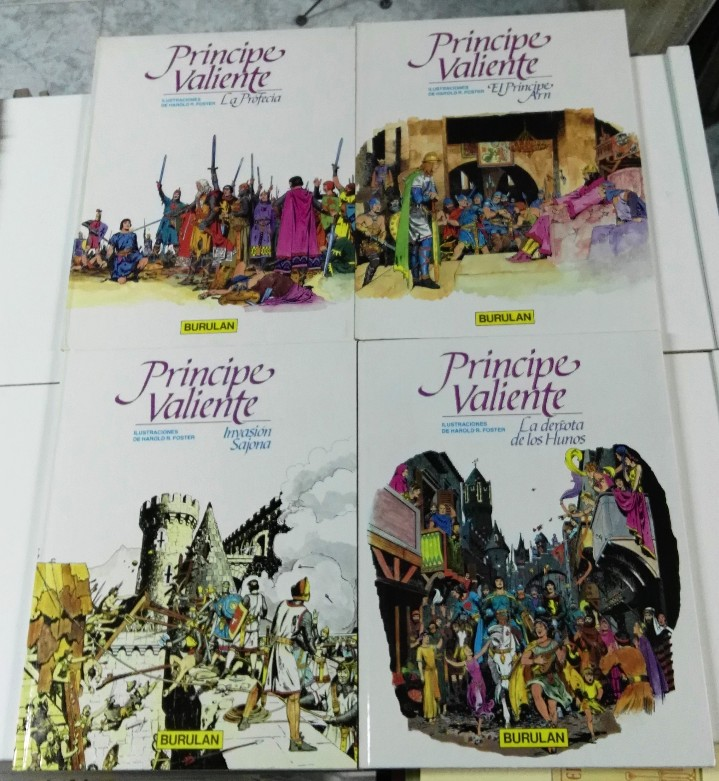 Cómics: Principe Valiente. Harold R. Foster. Buru Lan, 4 primeros tomos. 1983 - Foto 2 - 103208971