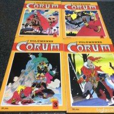 Cómics: CORUM - COLECCION COMPLETA EN 4 TOMOS RECOPILATORIOS - ADAPTACION DE LA NOVELA DE MICHAEL MOORCOCK. Lote 236792000