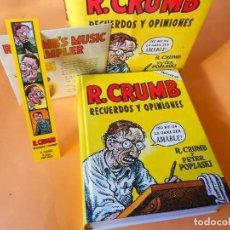 Cómics: R.CRUMB . RECUERDOS Y OPINIONES. INCLUYE CD Y MARCA PÁGINAS. SOBRECUBIERTA DE SOLAPAS. BUEN ESTADO.. Lote 103567723